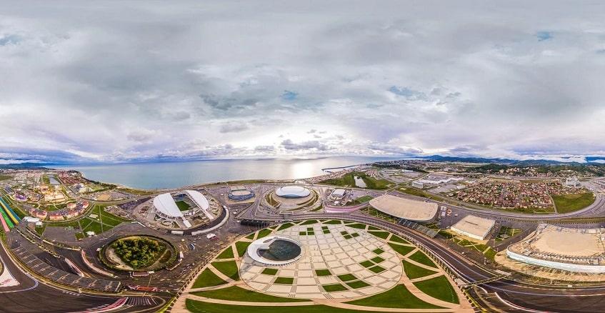 Олимпийский парк с высоты - фото