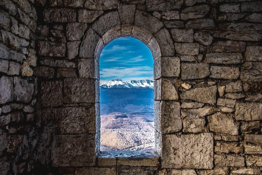 Сказочный вид с окна башни Ахун - фото