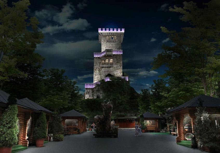 Смотровая башня ночью - фото