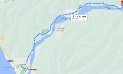 Сочи - 33 водопада пешком - карта