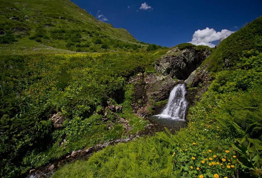 Кордон и водопад Пслух - фото