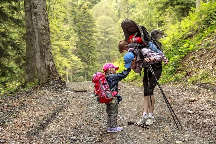 Поход с детьми к водопадам - фото