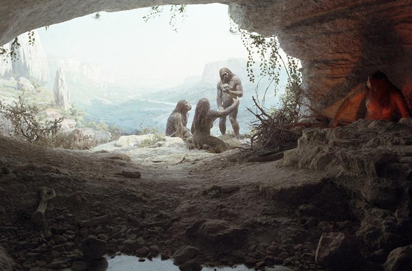 Стоянка древних людей - иллюстрация
