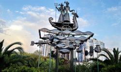 Морская прогулка - скульптурная композиция - фото