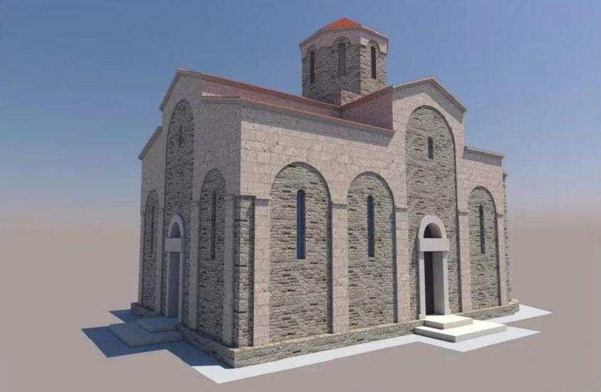 Реконструкция Византийского храма - иллюстрация
