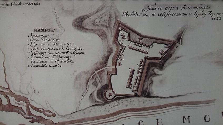 План форта Александрия - схема