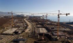Строительство Олимпийской деревни - фото