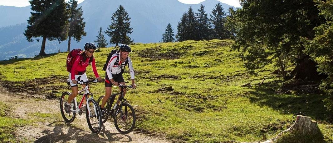 Катание в горах на велосипедах - фото