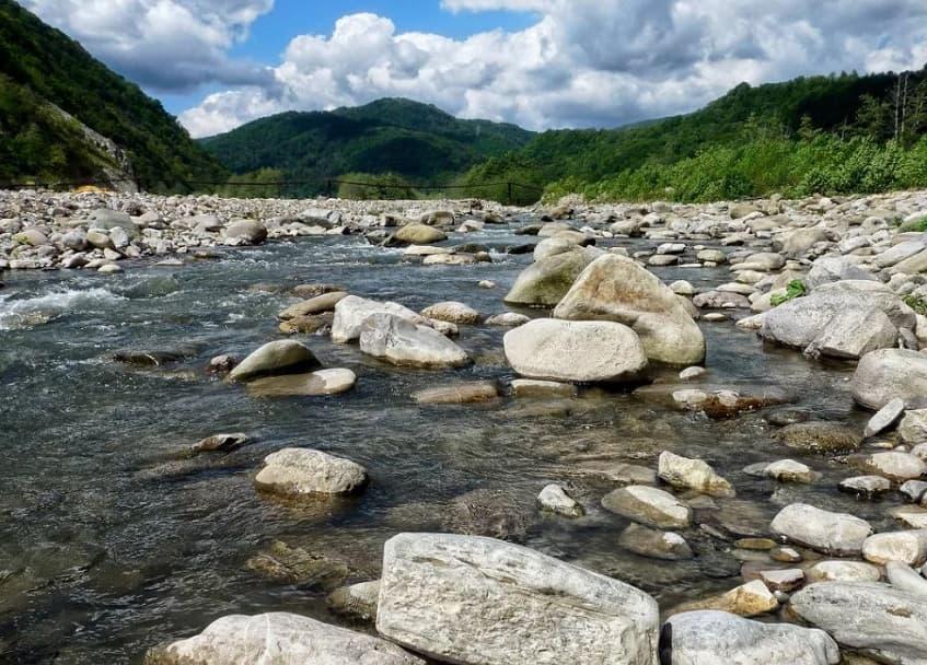 Речные камни - фото