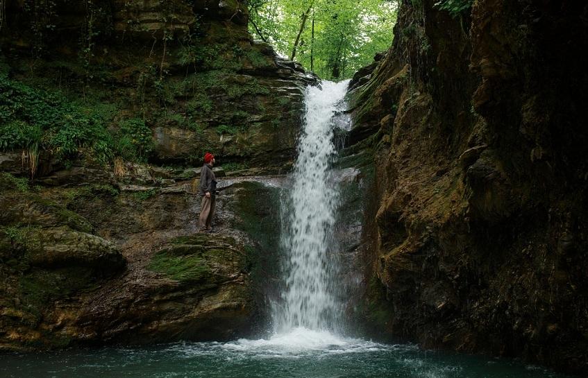 Водопад летом - фото
