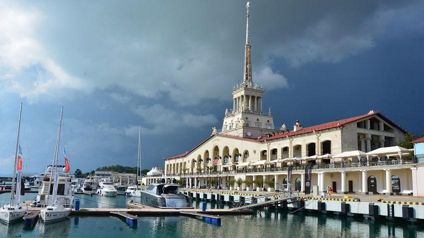 Здание Морского вокзала - фото