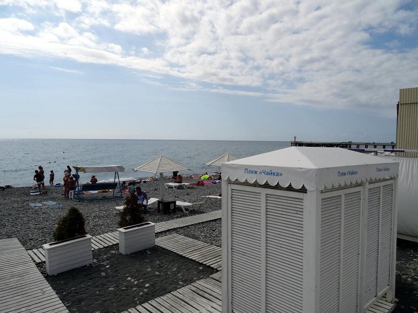 Кабинки для переодевания на пляже - фото